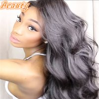 baby glue - Body Wave Glue Full Lace Human Hair Wigs Brazilian Unprocessed Human Hair Lace Wig Wavy With Bleached Knots Baby Hair