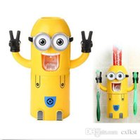 Wholesale Minions Toothpaste Despicable Me Toothbrush Holder Dispenser Styles Hot Sales Brand New Good Quality