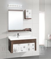 acylic glass - LED Wall Lamps Bathroom Mirror Lighting Shadeless Natural White SMD LED W W Optional Mirror Front Lighting Acylic Material DHL FREE