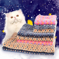 Wholesale 2016 Thicken the three dimensional printed flannel blanket pet mat pet dog cat litter pad quilt winter pet supplies
