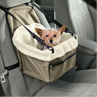 Wholesale pet booster seat Pet car basket Booster seat pethanging blanket bed portable doggie bag Safety Dog Leash LJJH1379