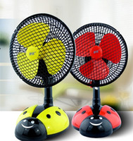 Wholesale Beatles Small Fan Head Shaking Plug Desktop Electric Small Table Fan Wall Fan Students Children Cute Fan Gift
