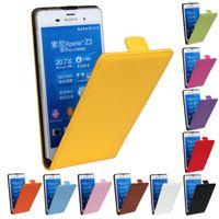 al por mayor z la cubierta de la moda del xperia-Moda de cuero abierto vertical de la cubierta de pie Flip casos de teléfono móvil para Sony Xperia Z L36h / Z1 L39h / Z1 Z2 Z3 caso compacto Fundas de protección