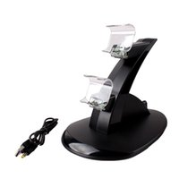Wholesale USB Led Dual Charge Charging Dock Station Stand for Playstation PS4 Controller