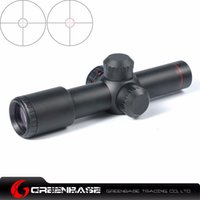 Wholesale Greenbase Tactical AK47 AK74 AR15 Hunting scope X20 Red Illumination Mil Dot Riflescope NGA0383