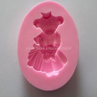 bear factory shop - bake tool factory shop bear design cake silicone fondant mold for cake decorating tool mk
