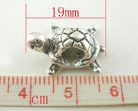 Wholesale bead friendship bracelet Silver Tone Turtle Charms Beads Fit Charm Bracelet x13mm bead friendship bracelet
