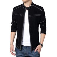 Wholesale Fall Winter Fashion PU Leather Motorcycle Homme Jackets and Coats Casual Warm Plus Size M XL Mens Clothing Fitness MXA0184