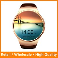 apple digital clock - 2016 New Product KW18 Smart Watch Android IOS Digital watch Bluetooth Reloj Inteligente SIM Round Heart Rate Monitor Watch Clock