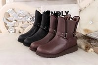 australia luxury boots - Classic Winter Waterproof Snow Boots Women Brand Genuine Leather Half Boots Ladies Fashion Warm Plush Luxury Australia Boots Size