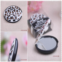 Wholesale Popular Reflections Elegant Leopard grain Pocket Mirror Wedding Favors and Gift