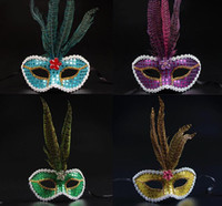 pvc manufacturers - Halloween masquerade party masks mask manufacturers Christmas princess feather masks