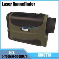 Wholesale Telescope laser rangefinders speed KM h distance m hunting golf range finder medidor de distancia a laser measure