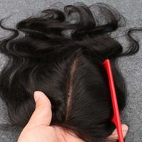 Cheap Slove 8A Top Indian Virgin Hair Silk Base Closure Body Wave 4x4 silk top closure Human Hair Closure Indian Body Wave Closure No Tangle