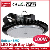 Wholesale Industrial lighting canopy lights finned radiator W LED high bay light for warehouse lamp High brightness Epistar SMD Chip AC85 V IP65