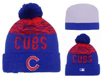 authentic knit - New Chicago Cubs Pom Beanies Hotselling Sport Team Knitted Skullies Authentic Brand Winter Hats