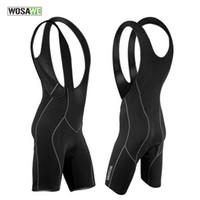 Precio de Almohadilla para el ciclismo-WOSAWE Pantalones cortos para bikinis de ciclismo de los hombres Pantalones cortos del chaleco de la bici de la bicicleta Ropa del desgaste del ciclo de Chothes Almohadillas del cojín del amortiguador 3D M-3XL