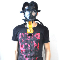 Wholesale Gas mask pipe new smoking pipes Gas Mask Water Pipes Sealed Acrylic Hookah Pipe Bong Filter Smoking Pipe