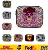 Wholesale 3D Skull Crown Series Wrap Laptop Ipad Bags Tablet Case Ipad Notebook Soft Protect Zipper Bag Big Pouch Cover Case cm FS S05