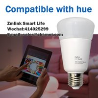 Wholesale NEW Arrival E27 W ZigBee Smart Bulb Compatible With Hue bridge and Wireless Lighting Hue APP Control Directly