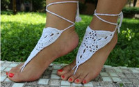 best evening shoes - 2016 best selling knitting knits dance anklets barefoot sandals barefoot anklets bride wedding shoe even foot ornaments
