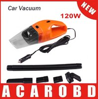 Wholesale 120 W Car vacuum cleaner wet and dry dual use super suction tile car vacuum cleaner yellow color