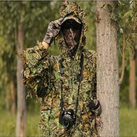 Wholesale D Camouflage Hunting Clothing Ghillie Suit Sniper Tactical Camo Yowie Jacket and Pants for Outdoor Sports