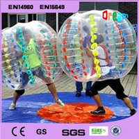 Wholesale m mm PVC Inflatable Bubble Soccer Ball Bumper Ball Inflatable Human Hamster Ball