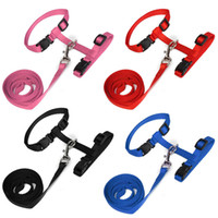 Wholesale Hot sales Adjustable Nylon Pet Kitten Harness Leash Collar Belt Safety Rope Lead for Cat