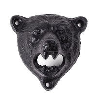bear opener - by DHL or EMS cast iron bear shaped hang wall mounted opener bottle