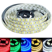 Wholesale Super Brightness Waterproof LED Strip Light M LEDs SMD Warm White Pure White Red Green Blue DC12V LED Tape Ribbon Rope Lighting