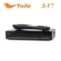 Wholesale Genuine S V7 S V7 HD Satellite Receiver S V7 VFD Support xUSB WEB TV USB Wifi G Biss Key Youporn Cccamd Newcamd order lt no track
