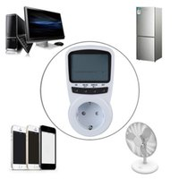Wholesale TS Electronic Energy Meter LCD Energy Monitor Plug in Electricity Meter for EU Plug Monitor