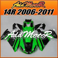 Wholesale Fairings Addmotor NewDesign Injection Mold Plastic For Kawasaki ZX14R ZX R Green Black K1701 Free Gifts