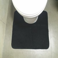 Wholesale inch bath mats Bathroom partner U mats Toilet rug set non slip Factory outlet Solid colors
