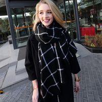 Wholesale Women s Plaid Scarf Tartan Tassel Scarves Fashion Wrap Grid Shawl Check Pashmina Cashmere Lattice