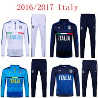 Cheap 2016 2017 the latest Italian soccer sport suit football training running under the highest quality exempt postage fleece jacket shirt