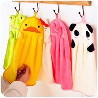 Wholesale Colorful sweet candy colored cartoon baby towel super soft coral fleece kid child towel wipe sweat hung towel