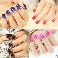 Wholesale Hot models glitter texture COLORFUL Nail stickers nail stickers nail sticker full nail stickers DHU070