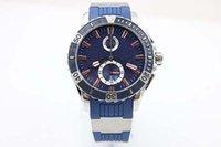 belts suppliers - Factory Supplier New Arrival Automatic Chronometer Brand Men s Watch Analog k Platinum Skeleton Blue Rubber Belt Blue Dial Marine Diver