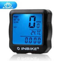 Wholesale INBIKE Waterproof Bike Computer Bicycle Computer Digital Speedometer Cycle Velo Computer Odometer with Backlight Free DHL
