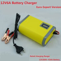 auto car maintenance - 12V6A Battery Charger for Car lead acid battery Motorcycle Battery Maintenance Free Battery Intelligent Charging Auto Stop