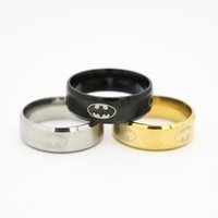 batman party plates - High Polish Stainless Steel Batman Ring for Men Man Top Grade Jewelry Accessories New Arrival Superhero Series Rings
