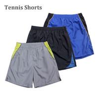 Wholesale Men s Tennis Shorts Herren SPORT Freizeit Shorts Lauf Sport Shorts Black Blue Grey Colour M L XL