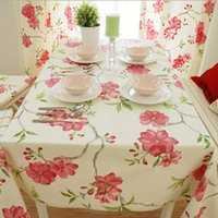 Wholesale Activity cotton Rectangular table cloth for weddings home hotel use dustproof tablecloth to table Multi size