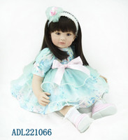 adora dress - 22 quot exquisite Adora baby reborn with dark brown straight hair and blue lace princess dress girls birthday gift