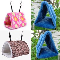 Wholesale New Arrival Parrot Bird House Parrot Plush Snuggle Shed Bird Hammock Parrot Hanging Cave Warm Canary Hut Nest E CH