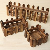 Wholesale Wooden fence for artificial flowers wood planters Christmas home decor garden decoration