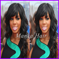 bang fringe hairstyles - New Arrival Peruvian Hair Full Fringe Wig Human Hair Glueless Full Lace Wig With Bangs Bleached Knots For Black Women