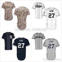 baseball shirts designs - 2015 New Camisa SAN DIEGO PADRES Matt Kemp Men Baseball Jersey New Design cool base Camo Stitched Shirt Camisas Promotion